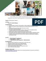 Job Advert - Various Position - 20.03.19 - Job Maldives