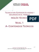 Inglés Técnico Nivel 1 - A Contenidos Teóricos