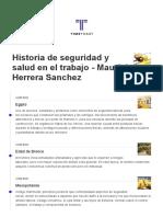 Historia de Seguridad y Salud en Le Trabajo