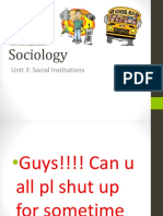 Social Institutions- Ch. 3