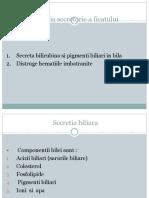 Curs 8 Metabolismul Bilirubinei.sindromul Icteric. Acizii Biliari 1