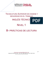 Inglés Técnico Nivel 1 - B Practicas de Lectura