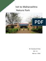 Field visit to Maharashtra nature park.pdf