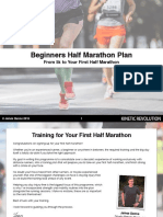 Beginners Half Marathon Training Plan - Plus Strength Routines - PDF