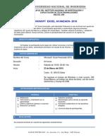 Excel Avanzado 2016-Experto Sabado 23 de Marzo 2019