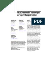 Dries-Tönnies Et Al (2015) - Visual Characteristics Inherent Impact on Peoples Strategic Orientation