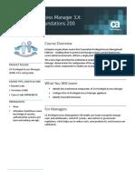PAM 3.X Configuration Foundations 200 - Course Description