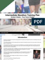 Intermediate Marathon Program - 16 Weeks - Plus Strength Workouts