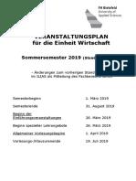 Vorlesungsverzeichnis Stand 12.03.2019