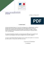 Communiqué du procureur du Havre