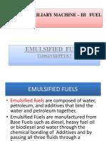 Unit 8.6 Fuel Oil - Emulsified Fuels