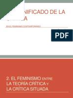 Teoría de Género.. El Significado de La Crítica en El Feminismo Contemporáneo