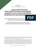ALVES,Dina. Rés negras, juizes brancos. Uma análise da interseccionalidade de gêner, raça e classse da produação da punição.pdf