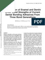 Enamel and dentin bonding