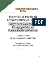Ensayo de pedagogía critica y formación de profesores memo rosales (1).docx