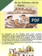 El Modelo de Los Azteca y Mayas Historia de La Educacion en Mexico