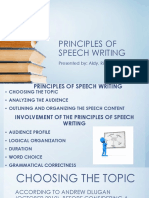 Principles of Speech Writing
