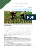 Cameroun et productiont du riz