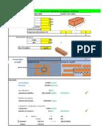 Tabla Excel para cálculo de ladrillos