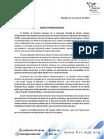 Comunicado Instituto de DD.hh Sobre Detención R. Marrero
