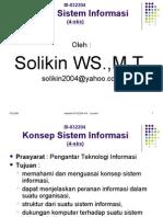DK-122 Konsep Sistem Informasi