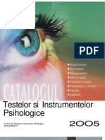 Catalogul Testelor Si Instrumentelor Psihologice 2005