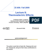 Thermoelectric Effects