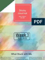 sticky journal