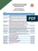 Programa Estructuras Especiales