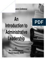 Introduction to Administrative Leadership