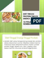 Diet Tinggi Protein Tinggi Energi