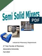 Industrial Semi-Solid Mixers