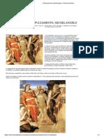 Sepultamento Michelangelo