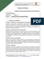 Arquitectura de Computadoras - Programa de Examen 2017