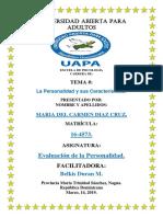 TAREA 1 y 3 DE EVALUACION DE LA PERSONALIDAD...MARIA.....docx