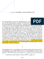 Tesis Sobre Feuerbach (Gredos)
