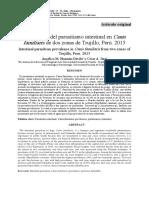 Prevalencia del parasitismo intestinal en Canis familiaris de dos zonas de Trujillo, Perú. 2015