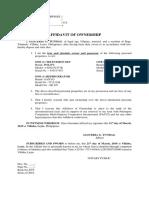 Affidavit of ownership  (GLICERIA TUNDAG).docx