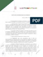 Carta Dos Governadores Do Nordeste