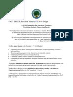 Budget Factsheet