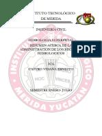 RESUMEN DE LA ADMINISTRACION DE LOS RECURSOS HIDROLOGICOS EN MEXICO.docx