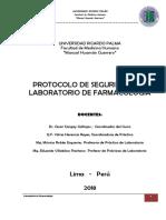 Protocolo de Seguridad Del Laboratorio de Farmacología