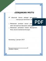 Lampiran A. Kebijakan Mutu.doc