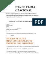 Encuesta de Clima Organizacional - Copia