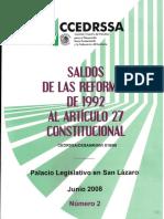 95Saldos Reforma Art 27 Constit 1992