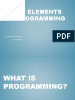 Basic Elements of Programming