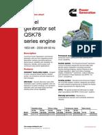 Diesel Generator QSK78