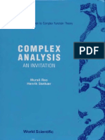 Murali Rao, Henrik Stetkaer - Complex Analysis_ An Invitation_ A Concise Introduction to Complex Function Theory-World Scientific Publishing Company (1991).pdf