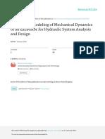 Bond Graph Modeling of Mechanical Dynamics of an E