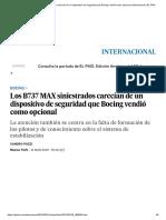 Los B737 MAX Siniestrados Carecían de Un Dispositivo de Seguridad Que Boeing Vendió Como Opcional _ Internacional _ EL PAÍS